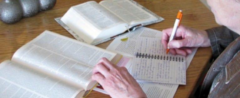 Omgang met de Bijbel.
