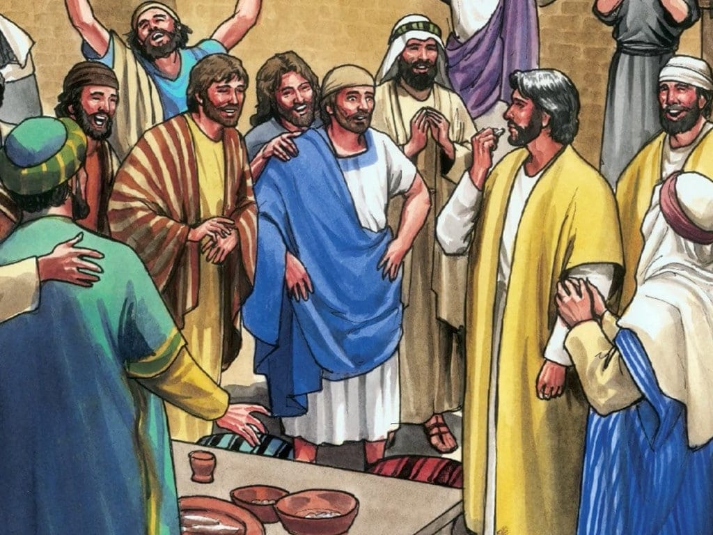Tomas ontmoet de levende Jezus